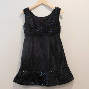 VTG Black Sequin Party Dress By Betsey Johnson